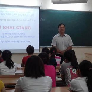Đào tạo nghề kế toán 3 tháng Trung tâm đào tạo liên tục
