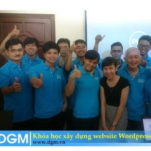Xây dựng website bằng wordpress Trung tâm đào tạo DGM Việt Nam